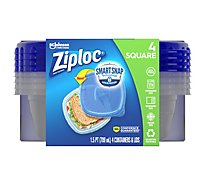 Ziploc Container & Lids Square Small - 4 Count