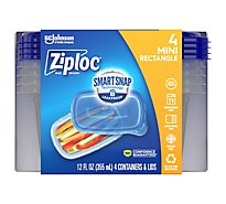 Ziploc Container & Lids Rectangle Medium - 4 Count