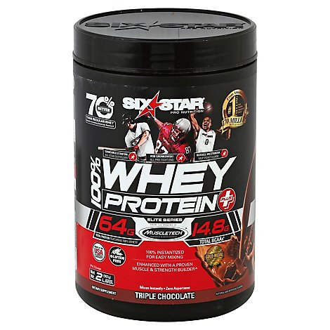 Six Star Elite Series Whey Protein Plus Triple Chocolate - 2 Lb
