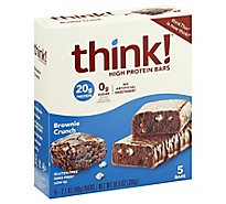 thinkThin High Protein Bars Brownie Crunch - 5 Count