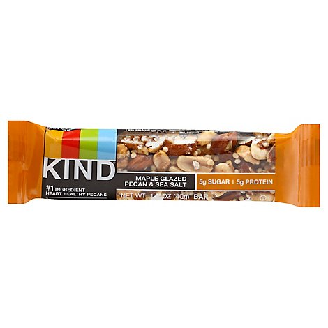 KIND Bar Nuts & Spices Maple Glazed Pecan & Sea Salt - 1.4 Oz