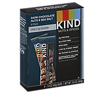 KIND Bar Nuts & Spices Dark Chocolate Nuts & Sea Salt - 4-1.4 Oz