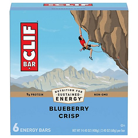 CLIF Energy Bar Blueberry Crisp - 6-2.4 Oz
