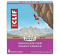 CLIF Energy Bar Chocolate Chip Peanut Crunch - 6-2.4 Oz