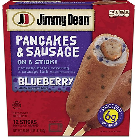 Jimmy Dean Pancakes and Sausage on a Stick Blueberry 12 Count - 30 Oz