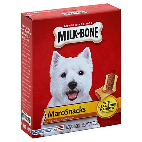 Milk-Bone MaroSnacks Dog Snacks For All Sizes With Real Bone Marrow Box - 10 Oz