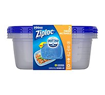 Ziploc Containers & Lids Large Rectangle 2.25 Quart - 2 Count