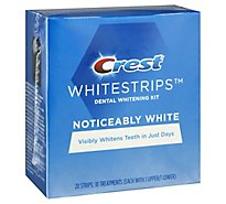 Crest Noticeably White Whitestrips Dental Whitening Kit - 10 Count
