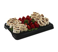 Deli Catering Tray Wraps Pinwheel & Strawberries 8 To 12 Servings - Each