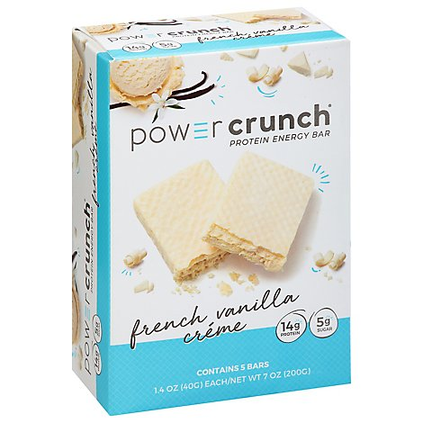 Power Crunch Energy Bar Protein French Vanilla Creme - 5-1.4 Oz