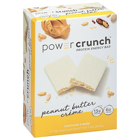 Power Crunch Energy Bar Protein Peanut Butter Creme - 5-1.4 Oz