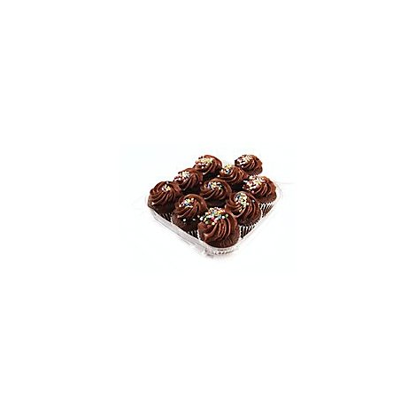 Bakery Cupcake Pareve Chocolate 10 Count - Each