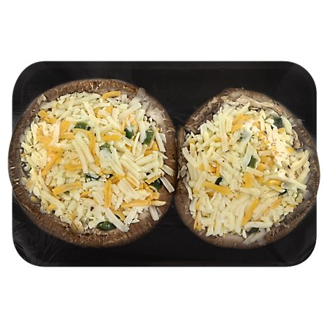 Fresh Cut Portobello Mushrooms Stuffed Cheddar Jalapeno - 11 Oz