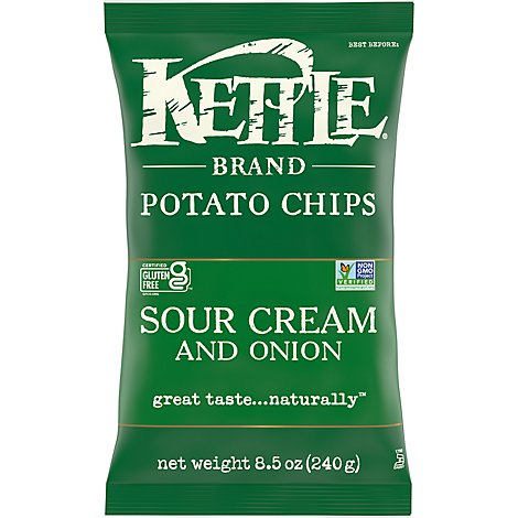 Kettle Potato Chips Sour Cream and Onion - 8.5 Oz