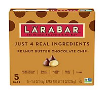 Larabar Food Bar Fruit & Nut Peanut Butter Chocolate Chip - 5-1.6 Oz