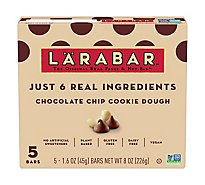 Larabar Food Bar Fruit & Nut Chocolate Chip Cookie Dough - 5-1.6 Oz