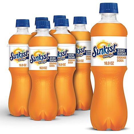Sunkist Soda Diet Orange - 6-16.9 Fl. Oz.