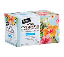Signature SELECT Coffee Pods Medium Roast Kona Blend - 12-0.42 Oz