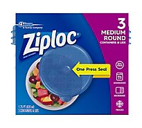 Ziploc Containers & Lids Round Medium - 3 Count
