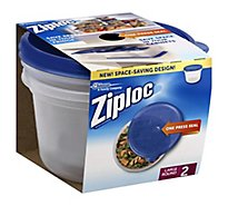 Ziploc Containers & Lids Large Round - 2 Count