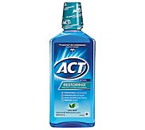 ACT Mouthwash Anticavity Restoring Icy Cool Mint - 33.8 Fl. Oz.
