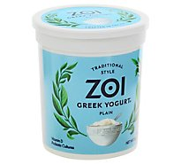 Zoi Greek Yogurt Plain Traditional Style - 32 Oz