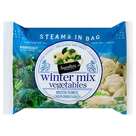 Signature SELECT/Kitchens Broccoli & Cauliflower Steam In Bag - 12 Oz