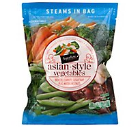 Signature SELECT Broccoli Carrots Sugar Snap Peas & Water Chestnuts Steam In Bag - 12 Oz