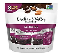 Orchard Valley Harvest Almonds Chocolate Covered Multipack - 8 Oz