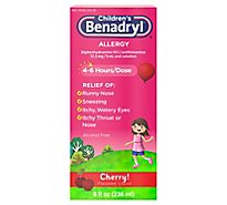 Benadryl Childrens Allergy Cherry Flavored Liquid - 8 Fl. Oz.
