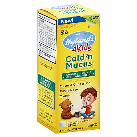 Hylands Cold & Mucus 4 Kids - 4 Oz