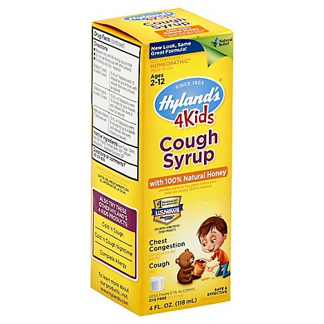 Hylands 4 Kids Cough Syrup - 4 Fl. Oz.