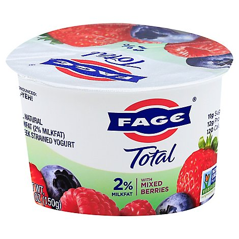 Fage Total 2% Yogurt Greek Lowfat Strained with Mixed Berries - 5.3 Oz
