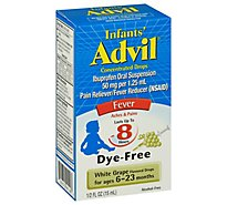 Infants Advil Dye-Free Alcohol-Free White Grape Concentrated Drops 50mg Ibuprofen- 0.5 Fl. Oz