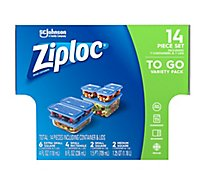 Ziploc Container & Lids To Go Variety Pack - 14 Count