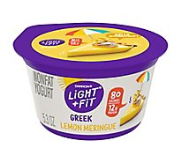 Dannon Light & Fit Yogurt Greek Nonfat Lemon Meringue - 5.3 Oz