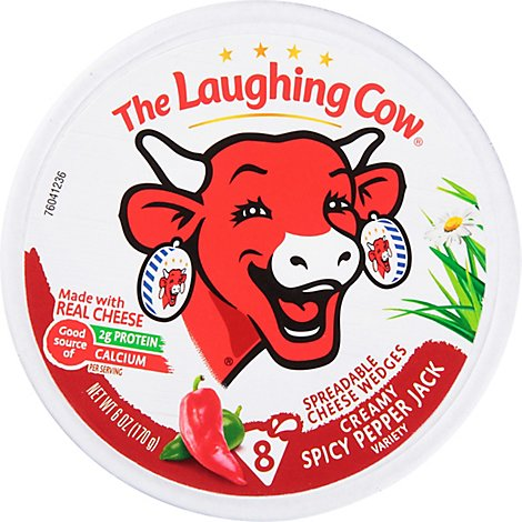 The Laughing Cow Creamy Spicy Pepper Jack Cheese Spread - 6 Oz.