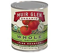 Muir Glen Tomatoes Organic Whole Fire Roasted San Marzano Style - 28 Oz