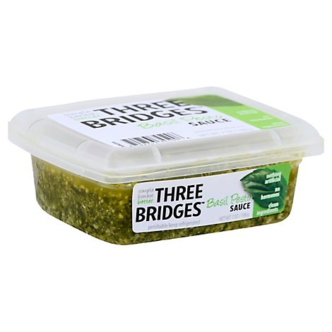 Three Bridges Pesto Sauce 7 Oz Safeway