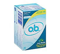 o.b. Original Tampons Digital Applicator Free Regular Absorbency - 40 Count