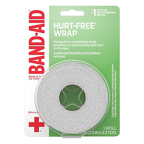BAND-AID Wrap Hurt-Free Small 1 in - Each