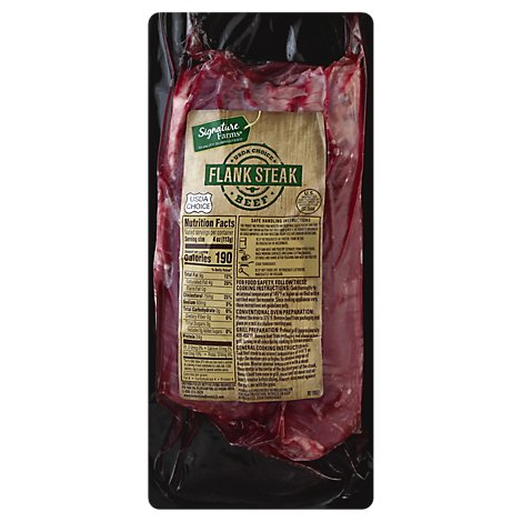 Signature Farms Boneless Beef Flank Steak - 1.75 Lbs.