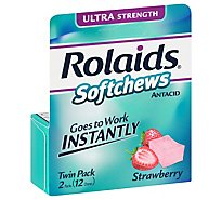 Rolaids Ultra Strength Softchews Strawberry - 12 Count