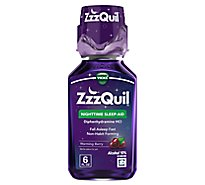 ZzzQuil Nighttime Sleep Aid Liquid Warming Berry - 6 Fl. Oz.