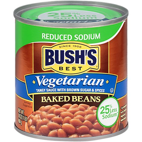 BUSHS BEST Beans Baked Vegetarian Reduced Sodium - 16 Oz