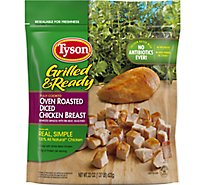 Tyson Grilled & Ready Fully Cooked Oven Roasted Diced Chicken Breast - 22 Oz