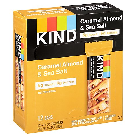 KIND Bar Nuts & Spices Caramel Almond & Sea Salt - 12-1.4 Oz
