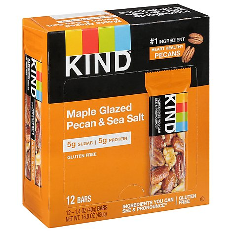 KIND Bar Nuts & Spices Maple Glazed & Sea Salt - 4-1.4 Oz