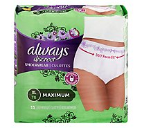 Always Discreet Underwear For Women XL Maximum - 15 Count
