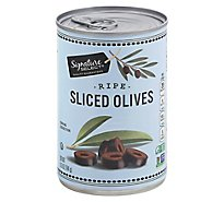 Signature SELECT Olives Sliced Ripe - 6.5 Oz